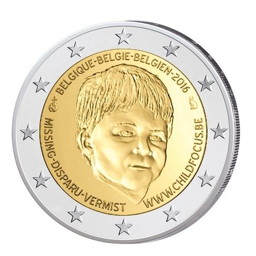 2 Euro Gedenkmünze Belgien 2016 Child Focus