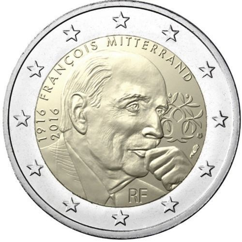 2 Euro Gedenkmünze Frankreich 2016 Francois Mitterrand