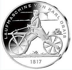 20 Euro Gegen 20 Euro Silber Deutschland Laufmaschine Karl Drais