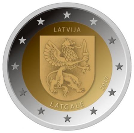 2 Euro Gedenkmünze Lettland 2017 Region Latgale