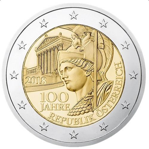 2 Euro Gedenkmünze österreich 2018 100 Jahre Republik österreich