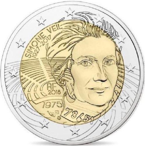 2 Euro Gedenkmünze Frankreich 2018 Simone Veil